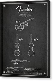 Electric Violin Patent Drawing From 1960 Acrylic Print