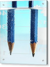 Electrolysis Of Water Acrylic Print by Science Photo Library