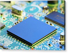 Electronic Printed Circuit Board Acrylic Print by Wladimir Bulgar