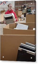 Electronic Waste Collection Acrylic Print