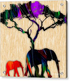 Elephant Painting Acrylic Print by Marvin Blaine