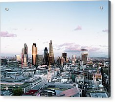 Elevated View Over London City Skyline Acrylic Print by Gary Yeowell