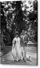 Elizabeth Taylor And Richard Burton Acrylic Print