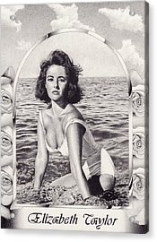 Elizabeth Taylor Acrylic Print by Herb Jordan