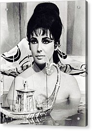 Elizabeth Taylor In Cleopatra  Acrylic Print by Silver Screen
