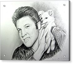 Acrylic Print featuring the painting Elvis And Sweet Pea by Patricia Schneider Mitchell