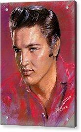 Elvis Presley Acrylic Print by Viola El