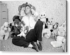 Elvis Presley At Home With Teddy Bears 1956 Acrylic Print by The Harrington Collection