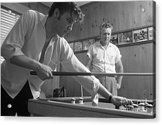 Elvis Presley With His Father Vernon 1956 Acrylic Print by The Harrington Collection