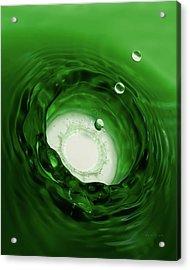 Emerald Drops 8x10 Acrylic Print