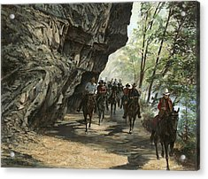 Eminence Trail Ride Acrylic Print by Don  Langeneckert