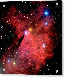Emission Nebulae Acrylic Print by Canada-france-hawaii Telescope/jean- Charles Cuillandre/science Photo Library