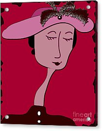 Emma Acrylic Print by Iris Gelbart