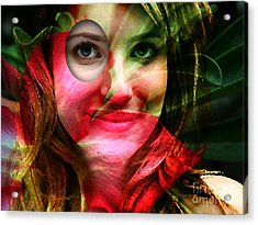 Emma Roberts Painting Acrylic Print by Marvin Blaine