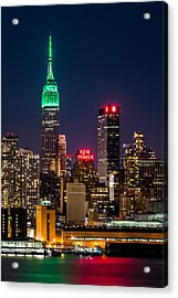 Empire State Building On Saint Patrick's Day Acrylic Print
