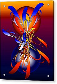 Acrylic Print featuring the digital art Enchantment Sun And Moon 2 by Gayle Price Thomas
