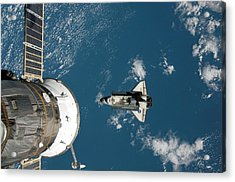 Endeavour Approaching The Iss Acrylic Print