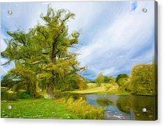 English Landscape Acrylic Print by Tom Gowanlock