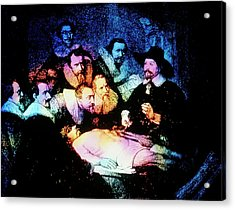 Engraving Of The Anatomy Lesson After Rembrandt Acrylic Print