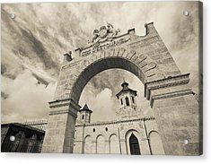 Entrance Of A Winery, Chateau Cos Acrylic Print by Panoramic Images