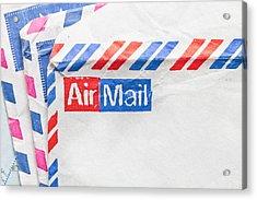 Envelopes Acrylic Print by Tom Gowanlock