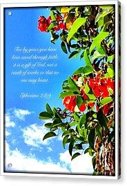 Ephesians 2 8 Acrylic Print