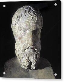 Epicurus 341-270 Bc. Greek Philosopher Acrylic Print by Everett
