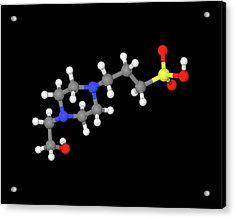Epps Molecule Acrylic Print by Dr Tim Evans