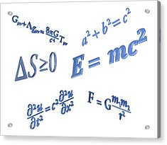 Equations Acrylic Print by Alfred Pasieka