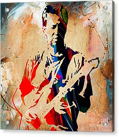 Eric Clapton Collection Acrylic Print by Marvin Blaine