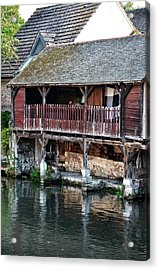 Eure River And Old Fulling Mills In Chartres Acrylic Print by RicardMN Photography