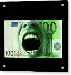 Euro Crisis Acrylic Print by Smetek