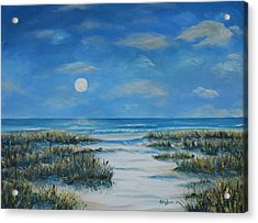 Evening Calm Acrylic Print by Stanton Allaben