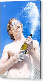 Exploding Champagne Spray Acrylic Print by Jorgo Photography - Wall Art Gallery