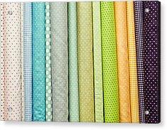 Fabric Colours Acrylic Print by Tom Gowanlock