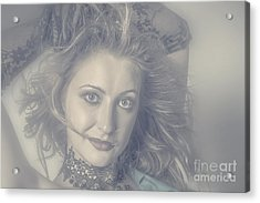 Face Of Beautiful Woman In Makeup Close-up Acrylic Print