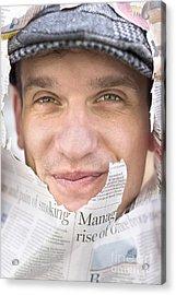 Face On News Acrylic Print