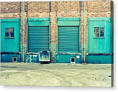 Factory Doors Acrylic Print by Tom Gowanlock