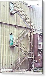 Factory Steps Acrylic Print by Tom Gowanlock