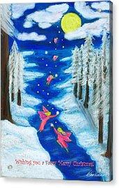 Faery Merry Christmas Acrylic Print by Diana Haronis