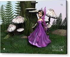 Fairy In Woodland Acrylic Print by Design Windmill