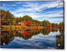 Fall In New England Acrylic Print by Bennie Thornton