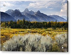 Fall In The Tetons Acrylic Print by Eric Foltz