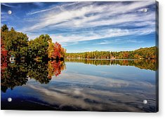 Fall Reflections Acrylic Print by Tricia Marchlik