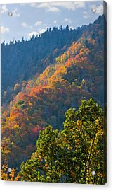 Fall Smoky Mountains Acrylic Print by Melinda Fawver