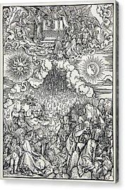 Falling Of The Ensisheim Meteorite Acrylic Print by Detlev Van Ravenswaay