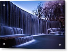 Acrylic Print featuring the photograph Falling Water by Mihai Andritoiu