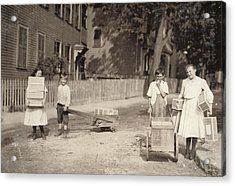 Family Of Workers, 1912 Acrylic Print