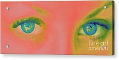 Acrylic Print featuring the painting Far Away Eyes by Janice Westerberg