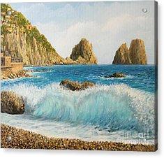 Faraglioni On Island Capri Acrylic Print